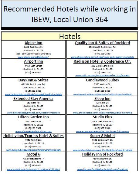 Ibew Illinois Map.Ibew 364